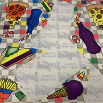 Vintage Lisa Frank S121 Very Incomplete Junk Food Pizza Ice Cream Stickers As Is image 2