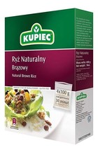 Kupiec Ryz Naturalny Brazowy Natural Brown Rice 4x100g Free Shipping USA... - $7.91