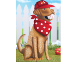 Puppy Baseball Garden Stake