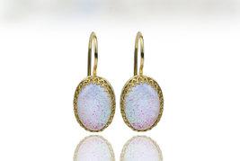 Opal earrings,gold earrings,dangle earrings,birthstone earrings - $59.00+