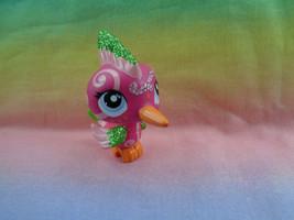 Littlest Pet Shop Hot Pink Glitter Woodpecker Shimmer n Shine #2340 Lave... - $5.93