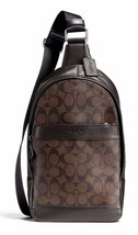 COACH Men 54787 ~ CHARLES PACK ~ Mahogany Signature PVC SLING Bag Backpa... - $158.95