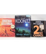Lot of 3 Audio Book Stories on CD by Patterson, Kellerman, and Koontz - $27.45