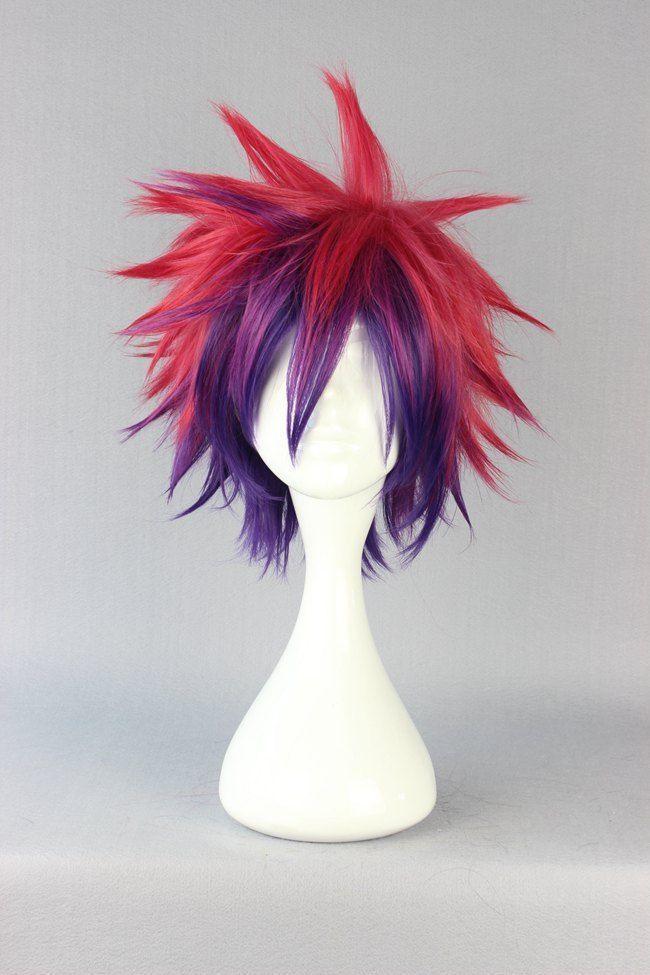 Sora Hair No Game No Life Cosplay Wig Anime 30cm Multi-Color Long Synthetic Wig