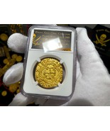 COLOMBIA 1622 8 ESCUDOS NGC GOLD PLATED ATOCHA PIRATE TREASURE COIN JEWE... - $299.00
