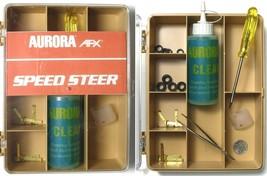 1981 Aurora Factory SpeedSteer Slot Car Service Center Tune Up Parts Tan - $28.70