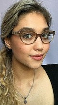 New Versace Mod. 1932-QA Clear Brown 54mm Cats Eye Eyeglasses Frame Italy  - $149.99