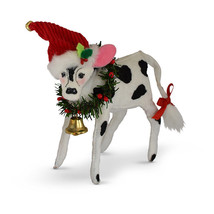 Annalee Dolls 6in 2018 Christmas Jinglebell Cow Plush New with Tags - $19.18