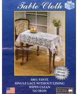 "Vinyl Lace Table Cloth - Oblong - 30 x 48"" - $19.79"