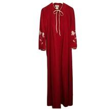 Vintage Tammy Womens House Dress Nightgown Sz S Velvet Velour Floral Zip... - $41.11
