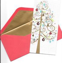 Papyrus Christmas Greeting Card set 16 modern glitter tree modern  - $21.77