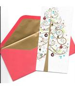 Papyrus Christmas Greeting Card set 16 modern classy simple glitter tree  E - $24.77