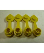 4x Yellow Fuel Gas Can Jug Vent Caps - Free Ship And Next Day Shipping - $6.43