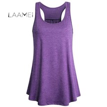 Laamei 2018 Summer Hot Sale Top Women Solid Color Casual Workout Vest Fe... - $12.39