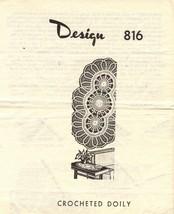 Vtg Reader Mail Order Crochet Oval Doily Medallions Border Design 816 Pa... - $10.99