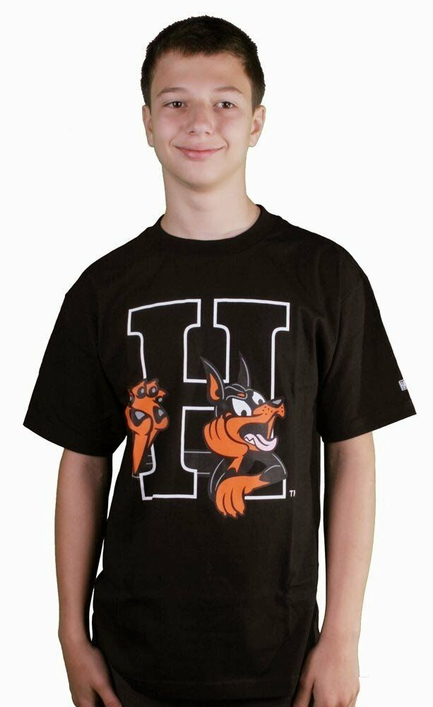 Hall Of Fame H Hound HOF Black Graphic Short Sleeve Tee Cotton T-Shirt