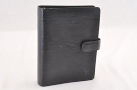 Louis Vuitton Epi Agenda Mm Day Planner Cover Black R20042 Lv Auth 7098 - $210.00