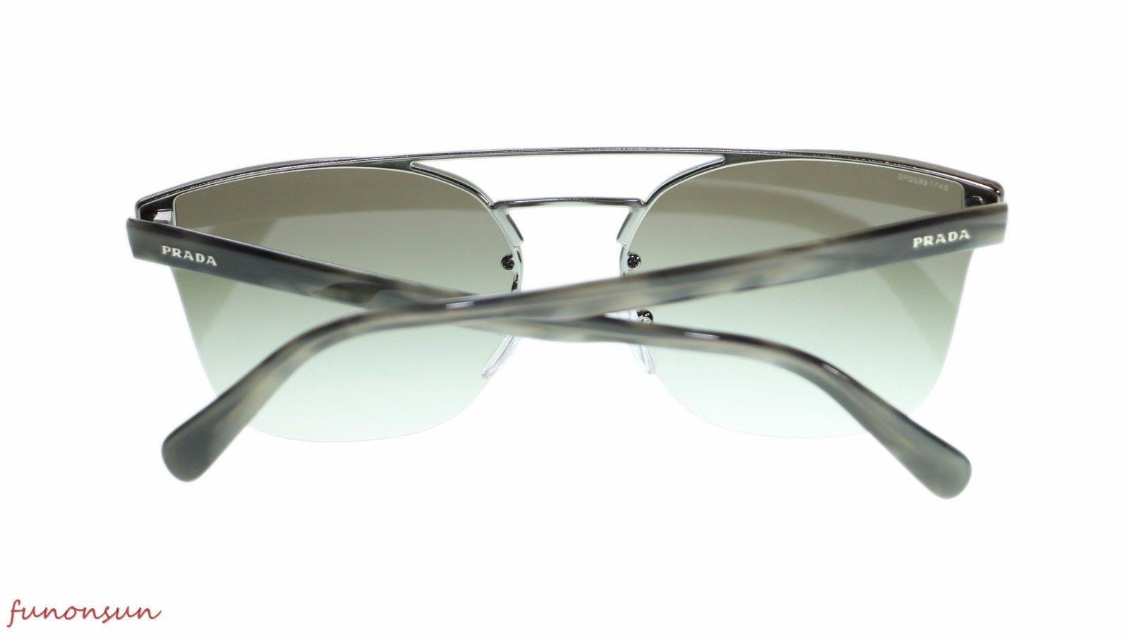 Prada Men's Sunglasses PR67TS 5AV0A7 Gunmetal Grey Gradient Lens 63mm