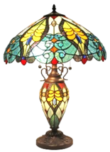Amora Lighting AM005TL18 Tiffany Style Floral T... - $211.95