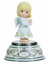 Precious Moments, Faith Angel, Porcelain/Resin, Music Box, 124109 - $42.13