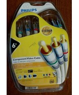 Philips Component Video Cable - 6 Foot - Gold Plated Connectors - NEW IN... - $17.81