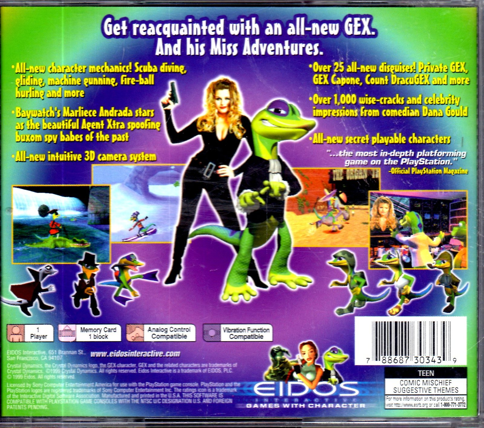 PlayStation - GEX 3 -  Deep Cover Gecko