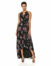 Sangria Women'S High-Low Maxi Dress, Black/Multi, 10 - $44.87+