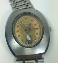 Caravelle Automatic Watch N2 Day Date Oval Face Needs Service - $48.51
