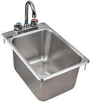 """10"""" x 14"""" x 10"""" Stainless Steel 16-Gauge One Compartment Drop-In Sink with 8"""" Fa - $177.21"""