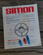 Vintage Milton Bradley Simon 1978 Replacement Part Knob & Instructions - $12.95