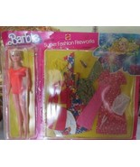 1970'S BARBIE SUPER FASHION FIREWORKS OUTFIT AND DOLL NEW ON PACKAGING S... - $237.55