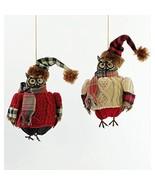Katherine's Collection Cozy Aspen Owl Ornament Assortment of 2 - $74.99