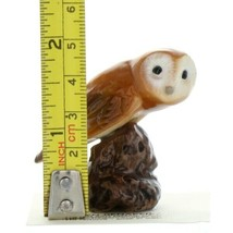 Hagen Renaker Bird Owl on Stump Ceramic Figurine a image 2