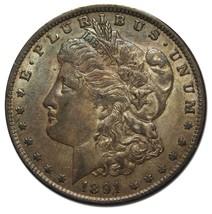 1891 MORGAN SILVER DOLLAR COIN Lot# MZ 4262