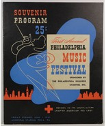 Philadelphia Music Festival Souvenir Program June 1, 1945 - $34.99