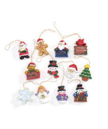 HOLIDAY CRAFT Resin Ornaments - Christmas Figures - 1.25 inches - 12 PC ... - $0.99