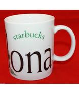 Chipped Starbucks Coffee City Mug Collector Series Barcelona Broken Display - $29.70