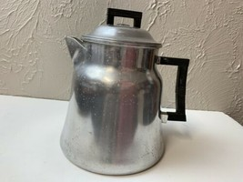 Cowboy Vintage Wear-Ever 16 Cup Coffee Pot Percolator No.3016 Aluminum C... - $28.01