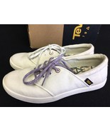 TEVA Womens Willow Lace Up White Boat Sneaker Flat Canvas US 6.5 1010349 - $34.99