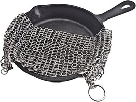 Cast Iron Skillet Cleaner Stainless Steel Chainmail Cleaning Scrubber Ch... - ₨1,089.47 INR
