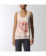 Adidas x Stella McCartney Studio S15244 Pale Pink Graphic Yoga Run Tank Top - $76.33