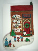Christmas Stocking Unlined Toys Store Snow Christmas Large 19 Inch Red Q... - $19.79