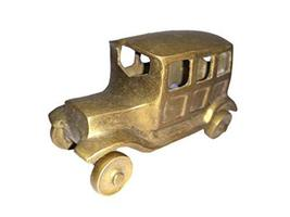 Laxman Art Vintage Jeep Statue Brass Metal Figurine Hand Carved Sculpture Indian - $49.00