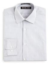 Michael Kors Boys' Small Open Check Button Down Shirt, Gray Multi, Size 18R - €21,24 EUR