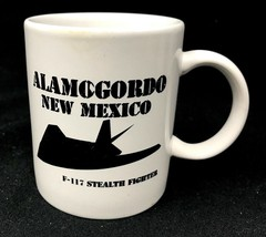 Vintage F-117 Stealth Fighter Jet USAF Air Force Coffee Mug RARE Early c1980s - $25.20