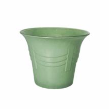 Vintage Glass Green Flower Pot | jewelrybubble - $59.00