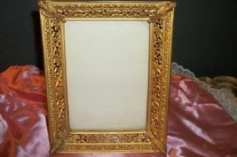 VICTORIAN ANTIQUE FILIGREE PICTURE FRAME TORCHES 1897 CHIC PARIS APT SHABBY - $865,60 MXN