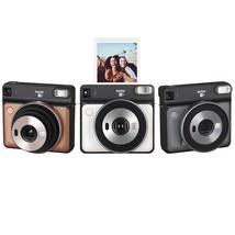 FujiFilm Instax Square SQ6 Instant Photos Films Polaroid Camera Gold Gre... - $148.67