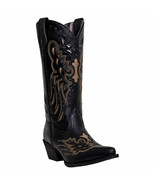 Laredo Ladies Wild Angel Black and Tan Cowgirl Boots 52150 Size 10M - $154.99