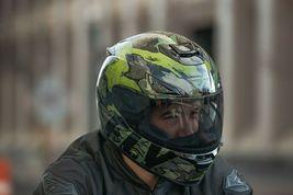 XS Fly Racing Sentinel Ambush Motorcycle Helmet Camo/Green/Grey DOT & ECE  image 6